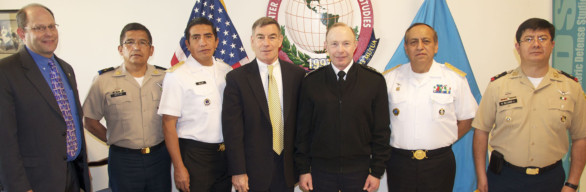 Delegation of Mexican officers with Dr. Richard D. Downie, Director CHDS and General Charles H. Jacoby, Jr., Commander North American Aerospace Defense Command and United States Northern Command (NORAD and USNORTHCOM)