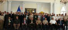 Group photo of Exercise participants with Inter American Defense Board Secretariat and Council of Delegates and, CHDS Director, Dr. Richard D. Downie