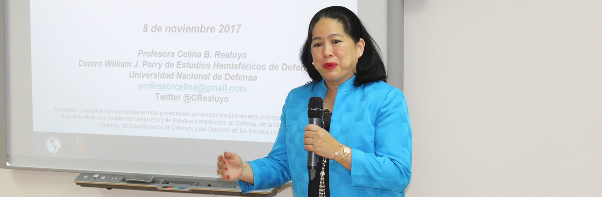 Professor Celina Realuyo Presenting at the US Embassy in Panama