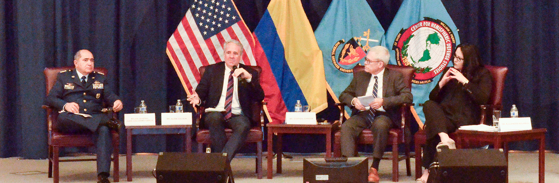 Panelists at the Transitional Justice in Colombia Hemispheric Forum